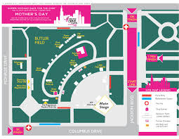 Chicago Magnificent Mile Hotels Map by Susan G Komen Chicagoland Chicago Maps Parking U0026 Hotels