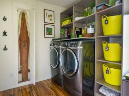 Diy Laundry Room Decor by Garage Laundry Room With Shelves And White Cabinets Well