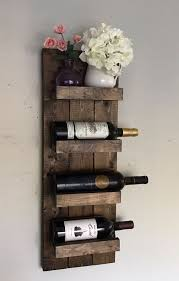 beautiful wood wine rack wall hanging wooden slab wine rack