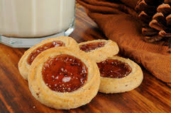 shortbread cookies with candied fruit stock photo image 73880200