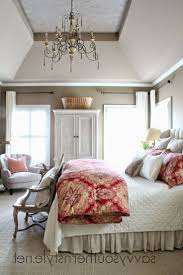 french country bedrooms majestic wooden canopy bed burlap window