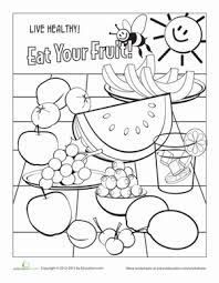 coloring pages worksheets fruit worksheet education com