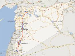 Google Map Oregon by M5 Highway Aleppo Damascus Processing