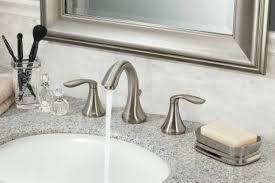 Widespread Bathroom Faucet Brushed Nickel Standard Plumbing Supply Product Moen T6420bn Eva Two Handle