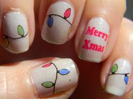 Christmas Light Nails by Polish Freshie December 2014
