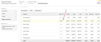 keyword bid affinez vos donn礬es sur adwords keyword planner