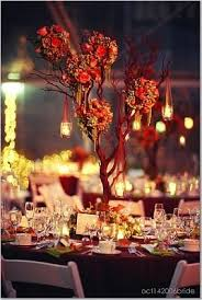themed centerpieces for weddings photo via centerpieces wedding trees and hanging candles