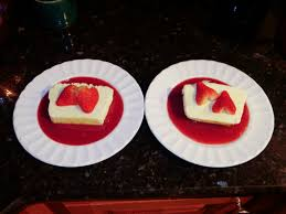 from ina garten u0027s recipe vanilla semifreddo with raspberry sauce