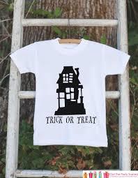 kids halloween shirt haunted house shirt happy halloween