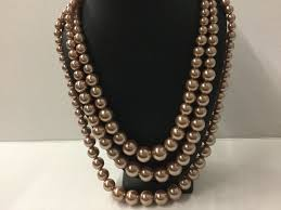 color pearl necklace images Rose gold color pearl necklace set morties boutique jpg