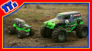 grave digger 30th anniversary monster truck toy learn with monster trucks grave digger toy youtube