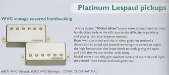 wilkinson wvc vitage covered humbucker pickup nickel sliver cover