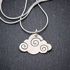 handmade silver necklace images Cloud appreciation society handmade silver cloud necklace jpg