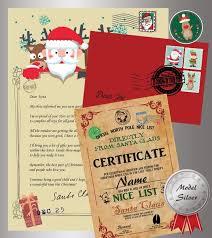 model silver original santa claus letter certificate