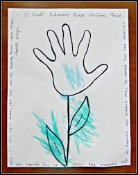 spring hand print flower craft free printable all done monkey