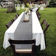 black white striped table runner ourwarm black white striped table runner for home decor 35 182cm
