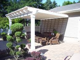 exterior nice image real white wooden pergola covers design ideas