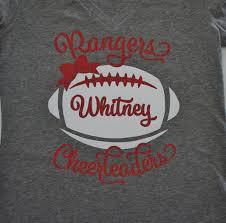 Cheerleader Flags Custom Cheerleader Shirt With Football Bow Long Sleeve Hoodie