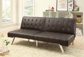 furniture wayfair sleeper sofa black faux leather futon faux