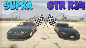 toyota on line gta 5 online toyota supra vs nissan skyline gtr r34 drag race