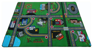 Green Kids Rug Our Town Play Rug 4 U0027x6 U0027 Contemporary Kids Rugs By Kids