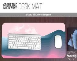 acrylic desk mat custom size custom desk pad etsy