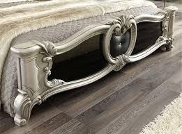 barocco bedroom set barocco traditional bedroom set in black silver bed 2