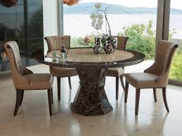 Marble Dining Room Table Sets Chair Round Marble Dining Table Room Claudia Real 24 Round Marble