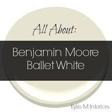 colour review ballet white benjamin moore cream paint colors