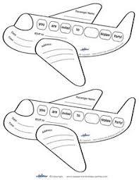 printable airplane cards coolest free printables
