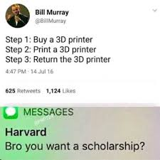 Printer Meme - dopl3r com memes bill murray billmurray step 1 buy a 3d