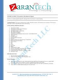 Sap Abap Resume Format Sap Abap On Hana Training Course Content