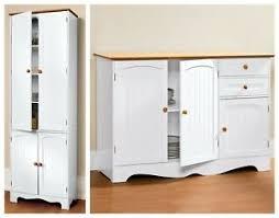 homcom 71 wood kitchen pantry storage cabinet details about 2 white kitchen pantry cabinet buffet set home dining furniture storage