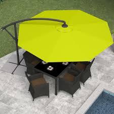 patio ideas freestanding patio umbrella with yellow umbrella