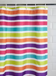 Bright Shower Curtains Bright Striped Shower Curtain Or Bright Solid Paint Dinos To