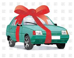 car ribbon gift car with ribbon vector image 74731 rfclipart