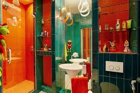 Red Bathroom Designs Colors 25 Ideas For Modern Interior Decorating With Orange Color Shades
