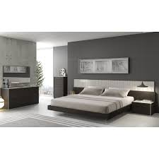 Grey Bedroom Dressers by Porto Light Grey Lacquer Wenge 5 Pc Premium Bedroom Set Bed 2