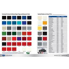 ew branded color paint chart