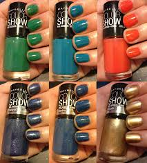 the beauty of life maybelline color show nail lacquer swatches