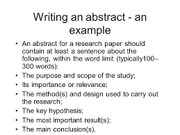 thesis abstract tips abstract essay exle exle of abstract college of social science