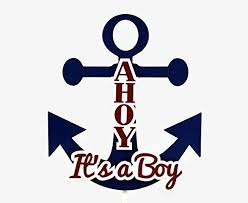 nautical cake toppers ahoy it s a boy nautical anchor baby shower cake