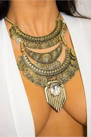 gold necklace statement images Bohemian gold coin statement necklace the fashion bible from the jpg