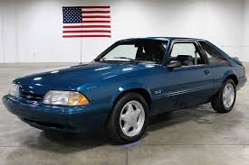 1993 ford mustang 5 0 reef blue metallic 1993 ford mustang lx for sale mcg marketplace