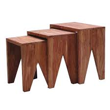 wood nesting coffee table cut sheesham wood nesting coffee table buy occasional tables