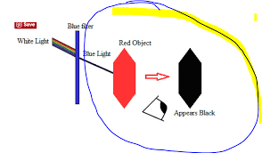 what is blue light filter what happens when blue light passes through a red filter answer