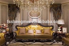 New Classic Design Luxury Furniture Wood Carving Sofa Villa Living - Luxury sofa designs