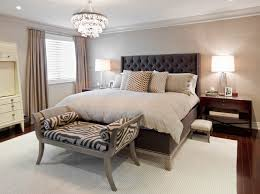 Bedroom Modern Elegant Bedroom Idea With Black Tufted Headboard - Elegant bedroom ideas