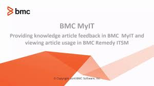 providing knowledge article feedback in bmc myit and viewing