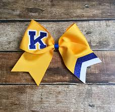 personalized bows custom cheer bows school lettering monogrammed black gold